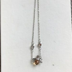 Girls Bee Necklace with Amber Body